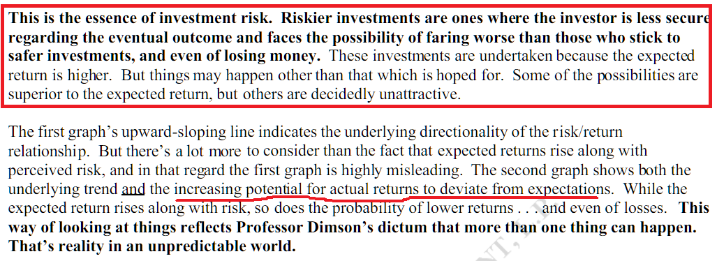 risk means there are more outcomes
