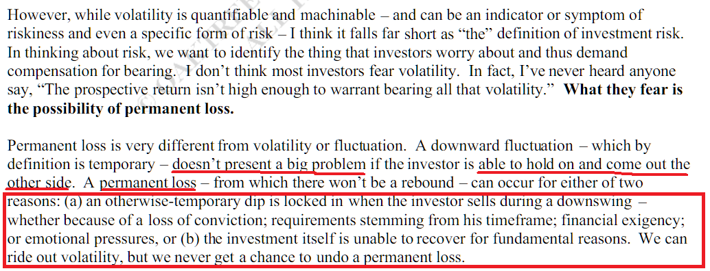 Risk is not volatility