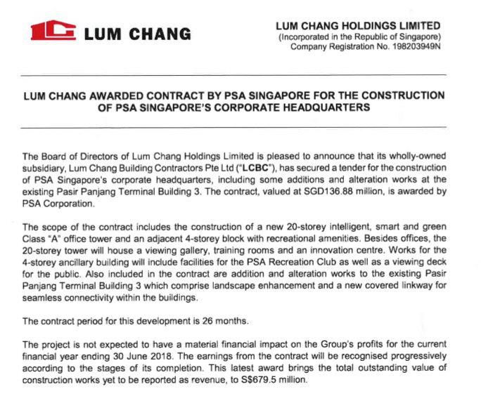 Lum Chang PSA building