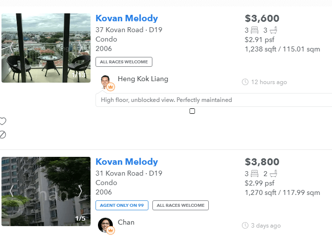 Kovan Melody Net Property Income Yield