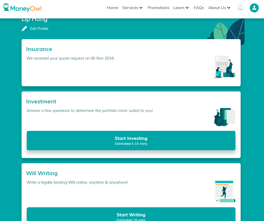 MoneyOwl Investing Process 1